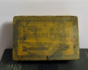 Vintage Seidlitz Powders Laxative Powders Tin - 1900's Seidlitz Powders Riker-Jaynes Drug Stores - Antique Seidlitz Powders Tin