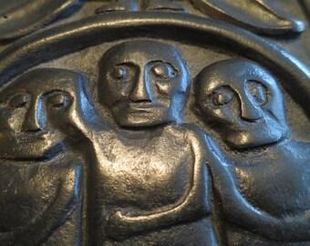 Three Children of the Fiery Furnace Bog Turf Sculpture from Ballyshannon Ireland