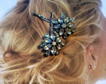 HOLIDAY SAVINGS Decorative Hair Pins Jewelry Art Deco Paste Rhinestone Bridal Hairpins Bobby Pins