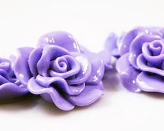 Resin Cabochon - 5pcs - Flower Cabochon - Sweet Purple Flower Cabochon - Cabochon - SW005-11
