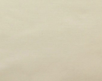 60 Inch Poly Cotton Broadcloth Ivory Fabric by the yard - 1 Yard