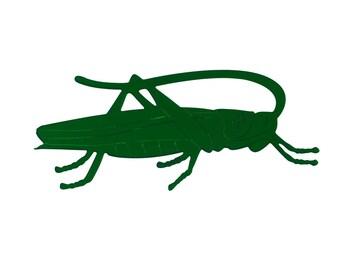 Grasshopper brooch