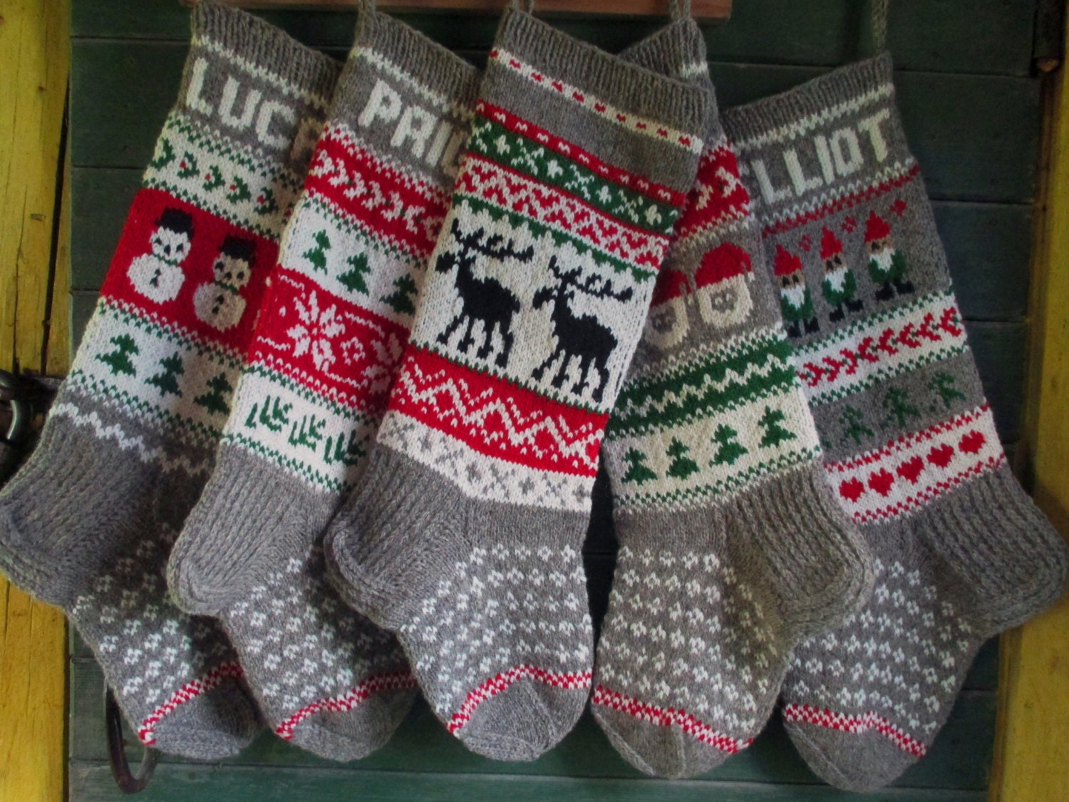 Knit christmas stockings 24 or 26 personalized zoom bankloansurffo Choice Image