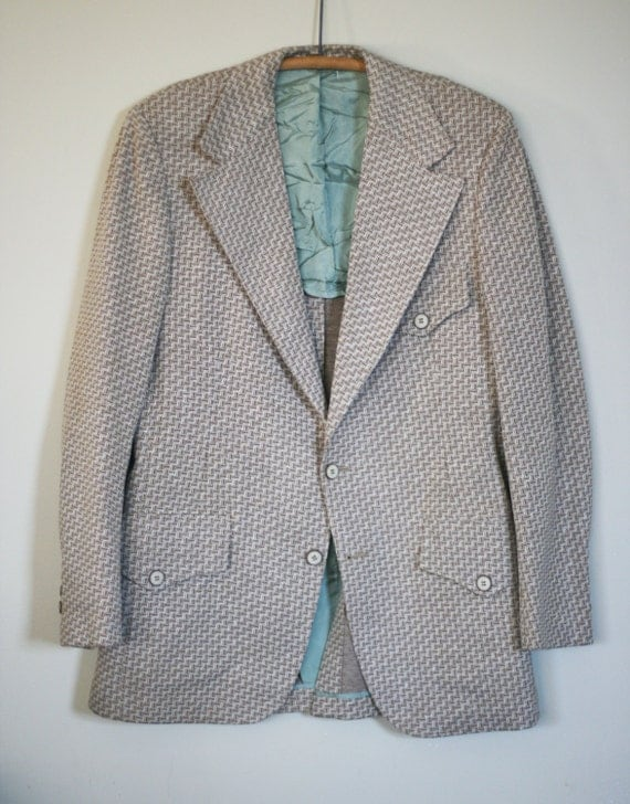 vintage polyester sport coat by brookfield size 40