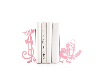 Bookends Pink Panther // modern nursery decor // housewarming present // baby shower // christmas present // Free shipping