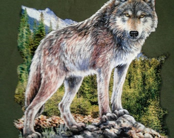 Wolf t shirt, lone wolf