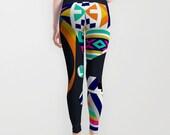 Ndebele South African Inspired Design Leggings, South African Fabric, African Print, African Design, African Inspired, African Wear