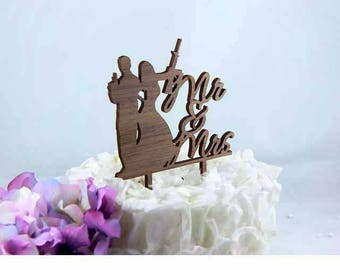 Mr and Mrs Smith Humor Cake Topper - Event Wedding Cake Topper - Lasercut Cake Topper