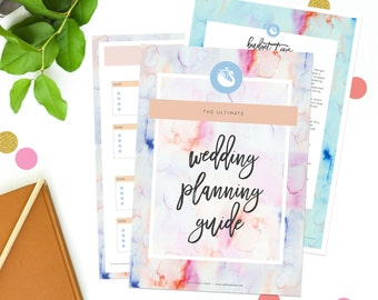 Digital Wedding Planner - Ultimate Wedding Planning Guide Printable Download - Printable Wedding Guide Budget Seating CharWatercolours