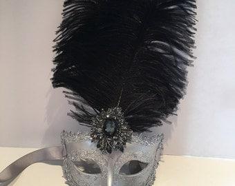 Masquerade Mask- Silver Mask -Masked Ball- Women's Mask -Masquerade Ball Mask- Costume Party Mask- Silver Carnival Mask- Masquerade- Mask