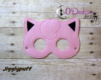 Jigglypuff Pokemon Inspired Childrens Dress Up Mask