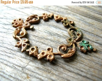 Christmas Sale Vintage Copper Finding - Rhinestone Blank - Copper Findings