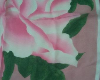 Pink Rose Metropolitan Museum of Art Silk Scarf