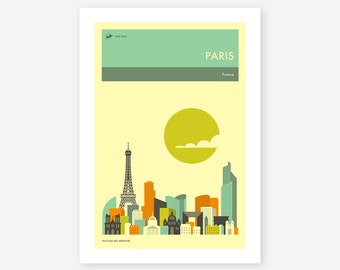 PARIS TRAVEL POSTER by Jazzberry Blue, Giclée Fine Art Print
