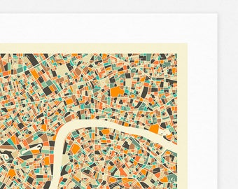 LONDON MAP (Giclée Fine Art Print, Photographic Print or Poster Print) by Jazzberry Blue (Ver.2)