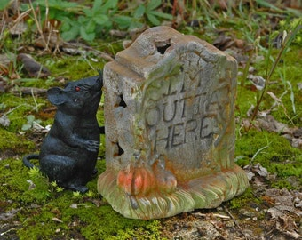 Primitive Halloween Decor Tombstone