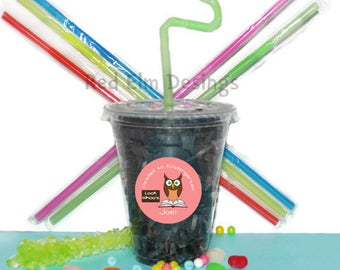 Graduation Party Cups, Graduation, Kids Birthday Party Cups, 20 Cups, Graduation Kids Party Cups, Straws and Lids, 12 Ounce Cups