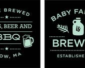Mallory's Babies, Beer and BBQ koozies