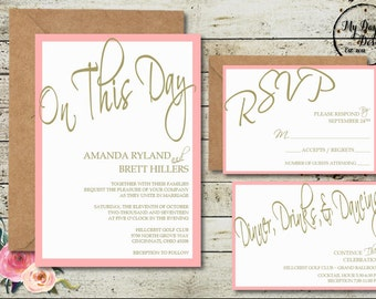 ON THIS DAY Wedding Invitation - Digital