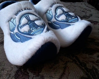 Blue Delft Holland Bedroom Slippers