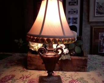 Gold Urn Lamp with Shade