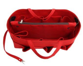 Bag insert organizer for Longchamp bags ,insert ,with water bottle handle and removable clutch purse  EXPRESS SHIPPING