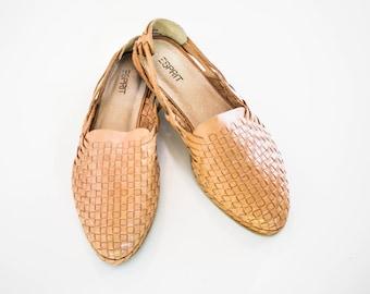 Women's Vintage leather Sandal slip-ons size 8 1/2B