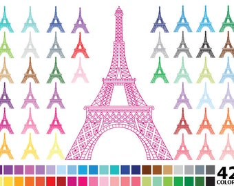 Rainbow Eiffel Tower Clipart