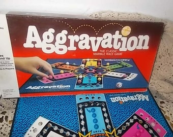 Aggravation Game,Marble Game 1989,Vintage Board Game, Family Game Night, Toys,Vintage Toys,
