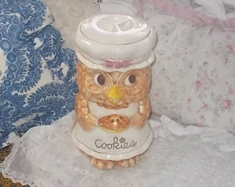 Owl Cookie Jar, Great American Pottery Owl Cookie Jar, Rare, Owl, Vintage Cookie Jar, Cookie Jar, Owl, Vintage Kitchen Decor,Made USA