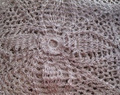 Silver gray crochet scarf, 11 x 11 Vintage doily