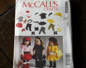 McCall's M6669, 18 inch Doll Clothes Pattern, Fits American Girl Doll, Next Generation Dolls