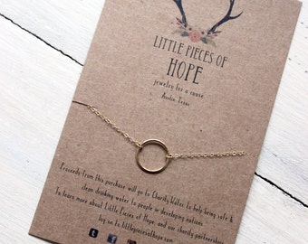 Ophelia Necklace - Gold Circle Necklace