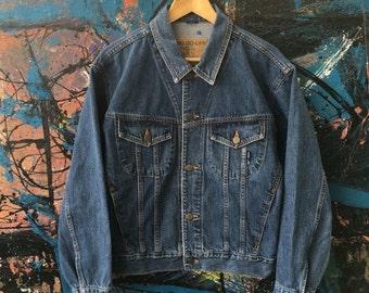 20 Vintage KENZO jeans designer Hip hop New Wave Acid Wash japan designer high fashion Denim Jacket