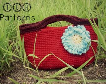 Crochet purse pattern, crochet bag pattern, girls crochet bag, childs purse pattern, Scarlett purse, Pattern No. 15