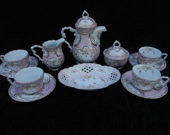 Tea Service: Hand decorated porcelain