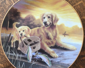 THE ONES THAT Got Away- Golden Retriever Collector Plate - Limited Edition