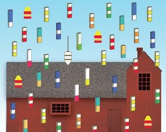 Cape Ann ReImaged: Motif No. 1 after Magritte