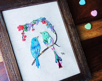 Valentine embroidery little picture named...Sweet fellowship