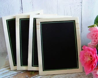 Small Set of 4 Chalkboards, Chalkboard Set, Springtime Chalkboards, Decorative Chalkboards, Mini Chalkboards, Rectangular Chalkboards, Chalk