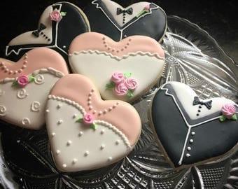 12 Bride and Groom cookies