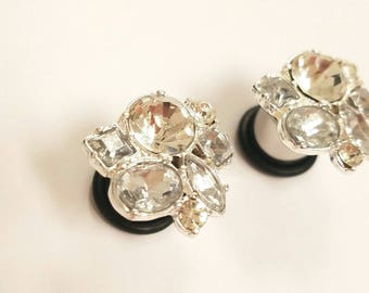Crystal Cluster Plugs - 4g - 3/4 inch