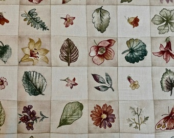100% Cotton Botanical Print Tablecloth 54 inches x 88 inches