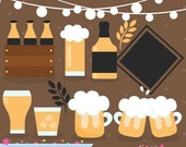 80% OFF - INSTANT DOWNLOAD - Beer Clipart for personal and commercial use