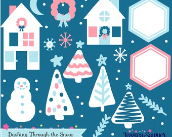 INSTANT DOWNLOAD, Christmas Clipart and vectors for crafts and products