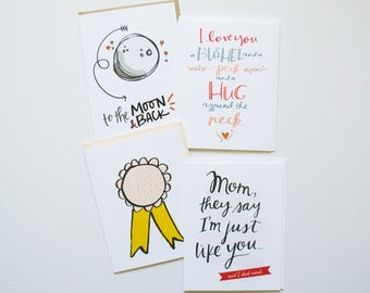 Set of Four Cards for Moms   Mother's Day   Mother's Day Cards   Cards   Greeting Cards