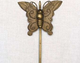 Vintage brass butterfly finding...Asian brass butterfly findings...