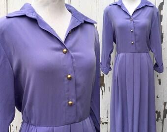 Lavender Pin Up Shirt Dress