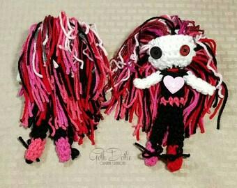 Ragadoo Crochet Amigurumi Doll OOAK by GothDollie