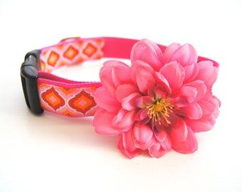 Pink Flower Dog Collar Attachment